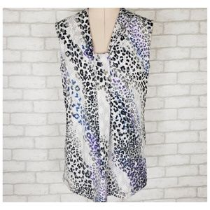 Dana Buchman Snakeskin Print Sleeveless Top Career
